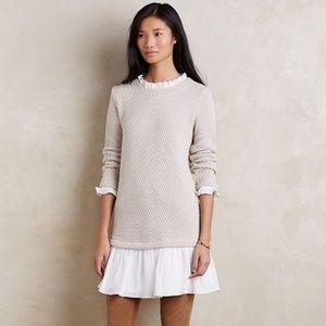 Anthro | Sunday in Brooklyn Ruffle Sweater Dress
